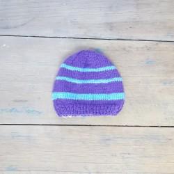 Bonnet Naissance - Violet/Bleu