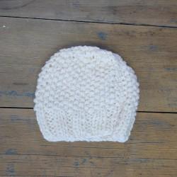 Bonnet 1/2 ans - Blanc Cassé