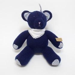 Ourson tricoté - Bleu nuit