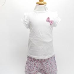 T-Shirt + Short Fleurs -...