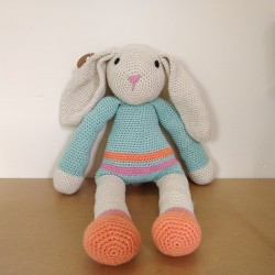 Grand Lapin au crochet - Beige