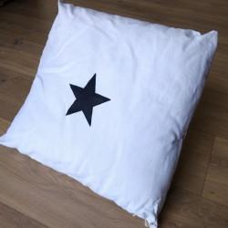 Coussin Carré - Blanc Étoile