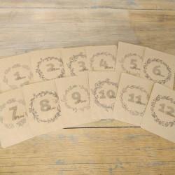 12 Cartes Étapes Bébé - Craft